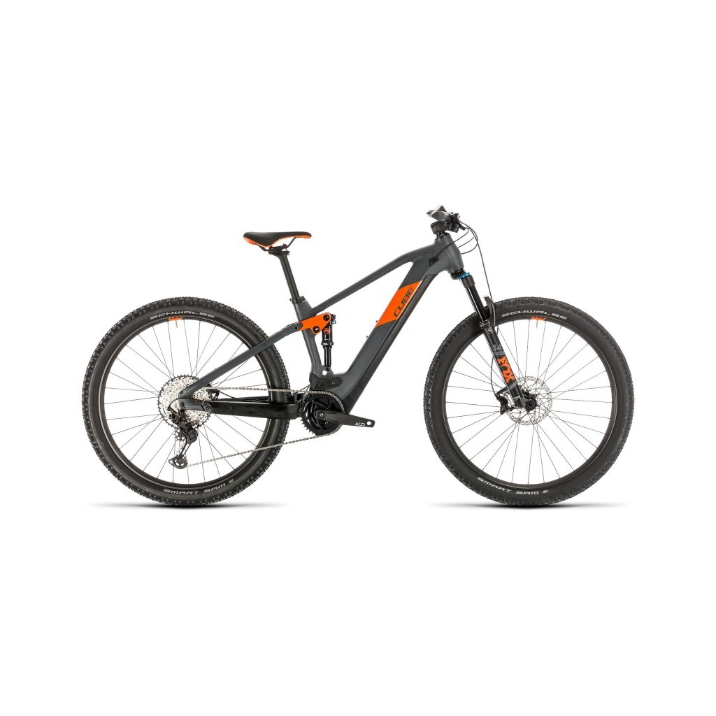 vtt électrique cube stereo hybrid 120 race 625 29 grey'n'orange 2020 cube